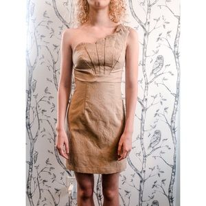 KEEPSAKE THE LABEL One Shoulder Brocade Dress XS
